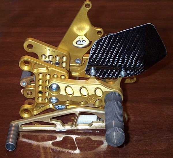 Gilles gold rearsets for the Hayabusa